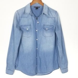 Victoria's Secert Faded Denim Buttondown Shirt S